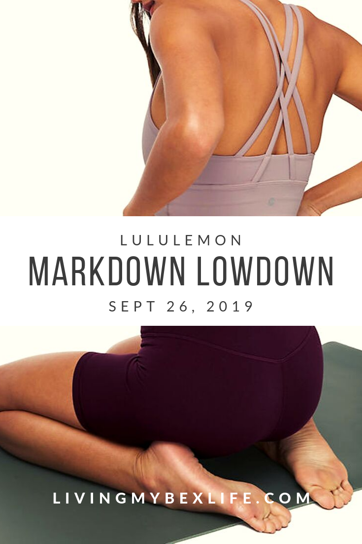 lululemon Markdown Lowdown (9/26/19)