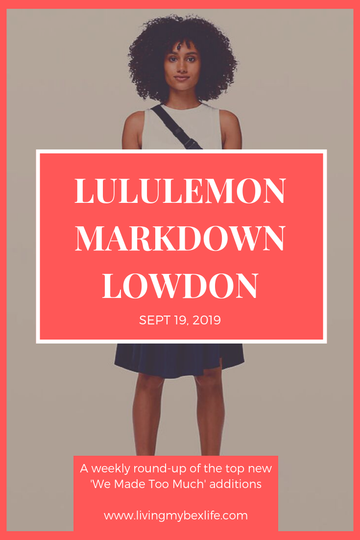 lululemon Markdown Lowdown (9/19/19)
