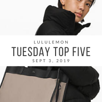 lululemon Tuesday Top 5 (9/3/19)