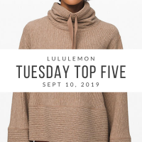 lululemon Tuesday Top 5 (9/10/19)