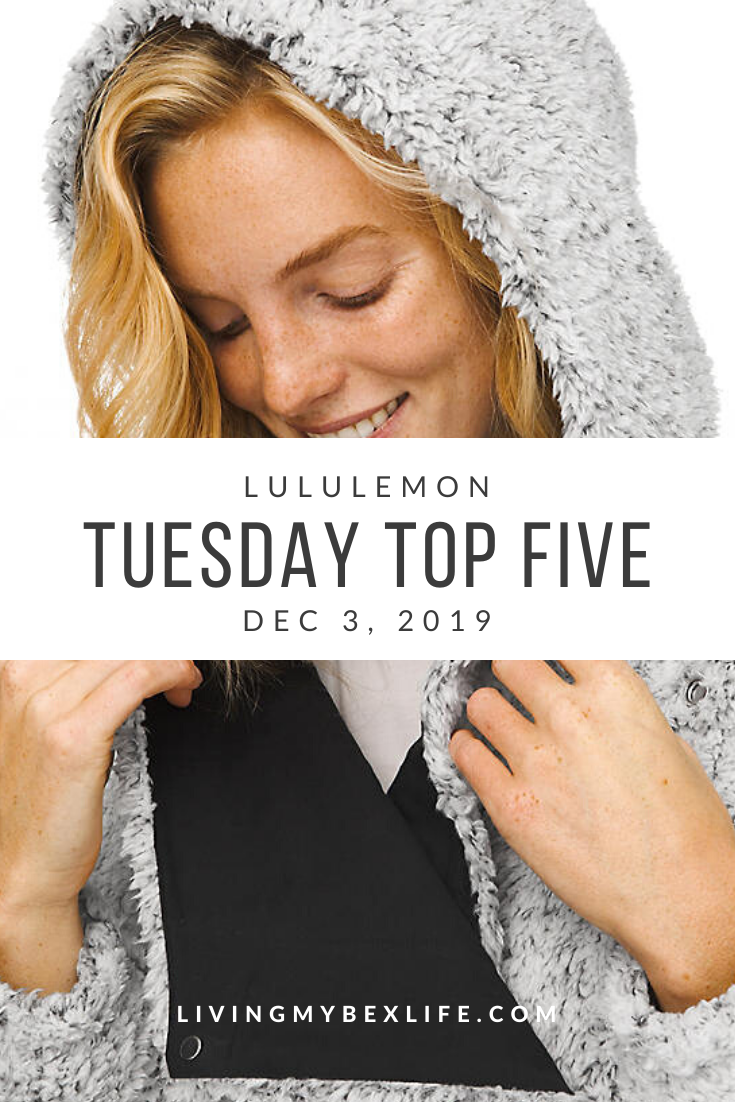 lululemon Tuesday Top 5 (12/3/19)
