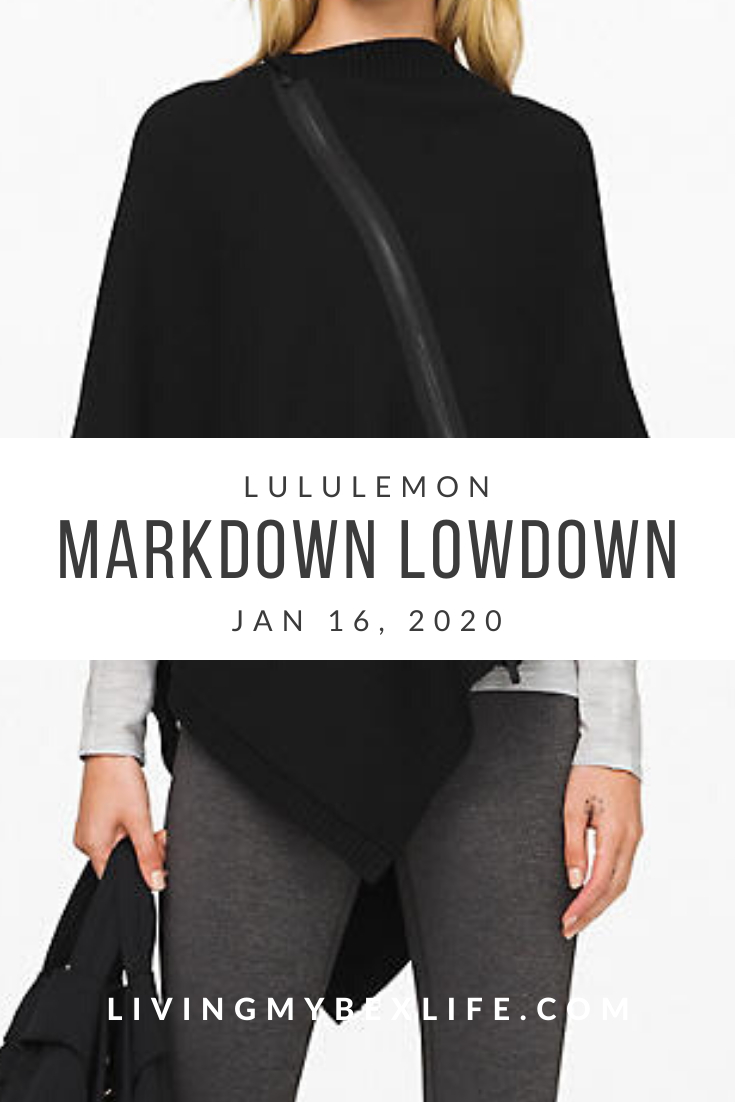 lululemon Markdown Lowdown (1/16/20)