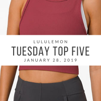 lululemon Tuesday Top 5 (1/28/20)